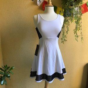 Bebe Black m white dress